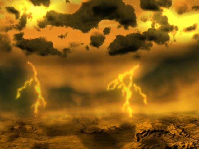 lightening on Venus.. artistic version.. Credit ESA