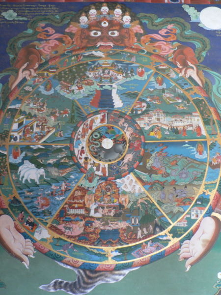 450px-The_wheel_of_life,_Trongsa_dzong