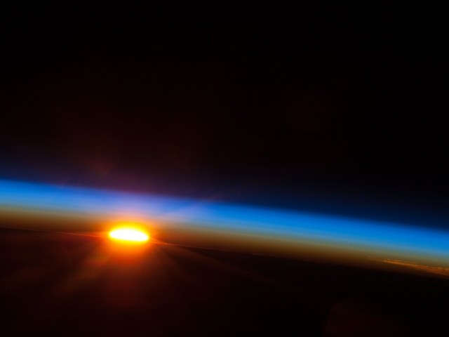Sunrise Over the South Pacific Ocean.